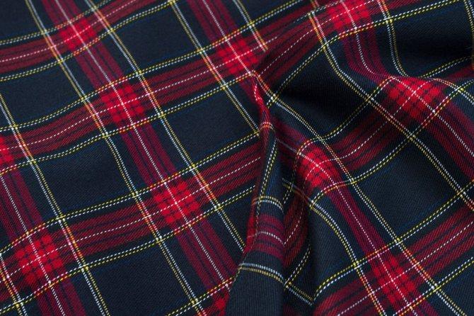 Состав, свойства, технология изготовления ткани шотландка