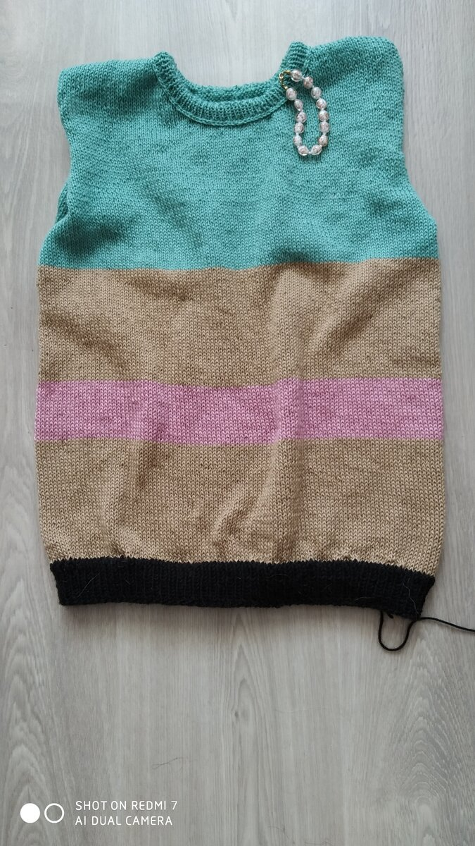 Вязание горловины у свитера