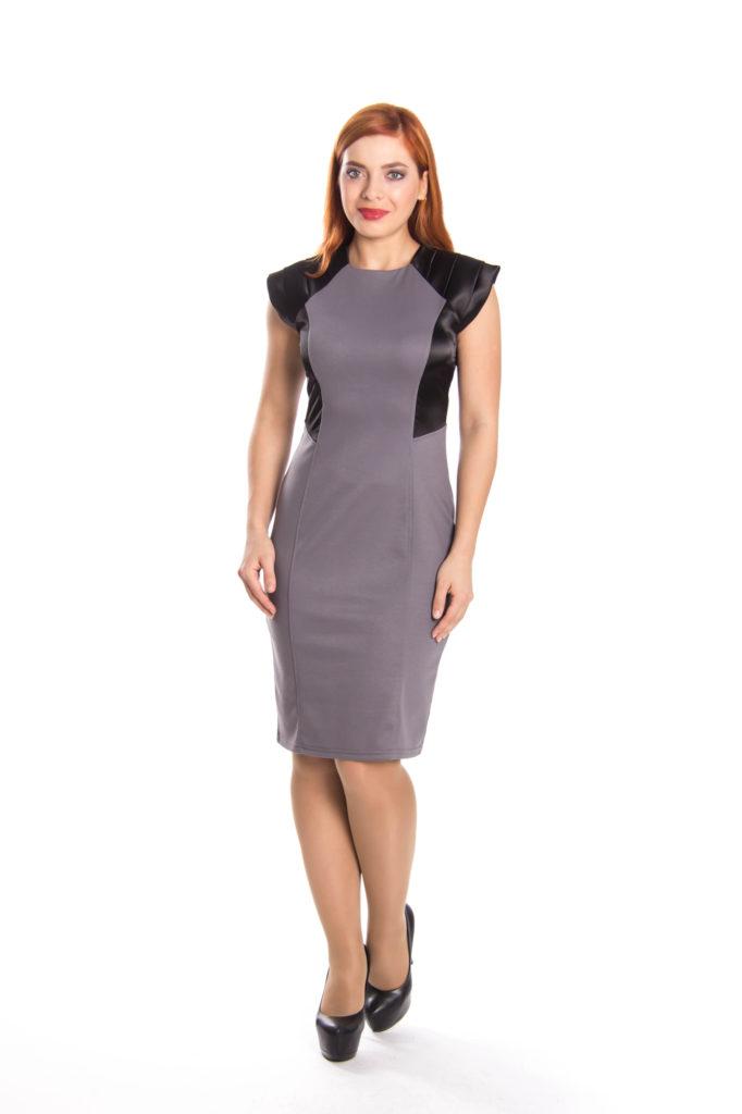 Полуприлегающее платье