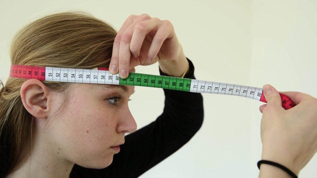 Измерить размер женской головы