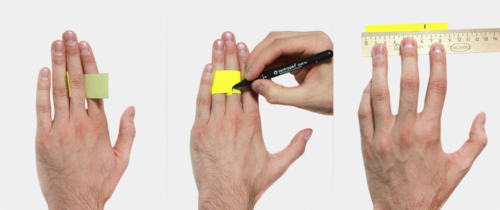 Узнать размер мужского кольца